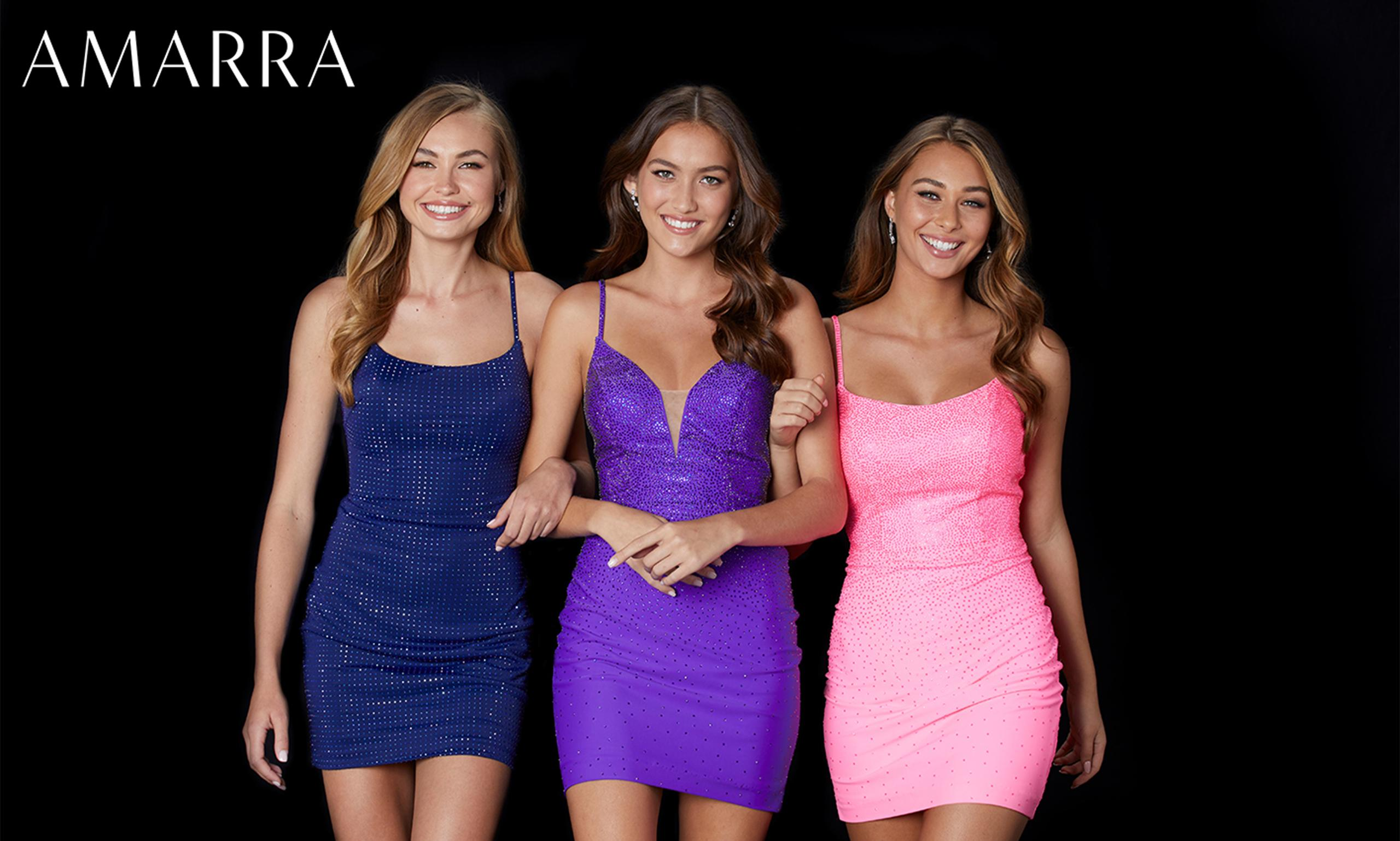 Homecoming Dresses designed by Amarra